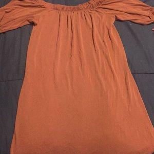 Mauve color dress very soft material